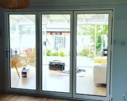 closed bi fold door